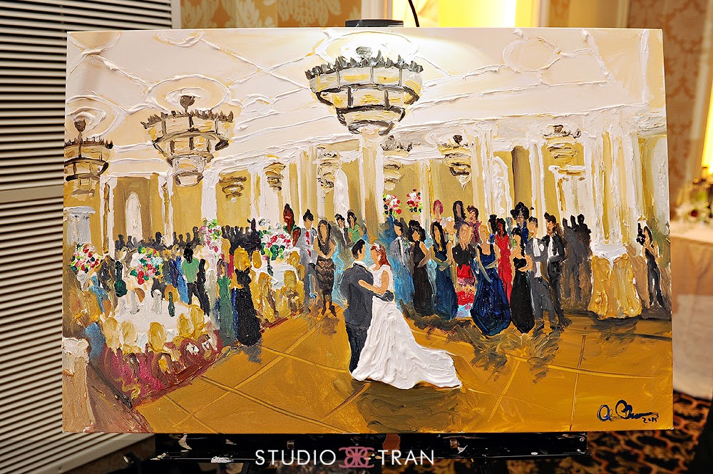 Live Wedding Painting At The Roosevelt Hotel New Orleans Louisiana