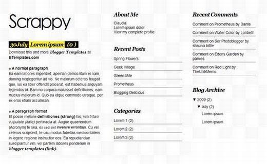 Blogger News Magazine Gray Web2.0 Template