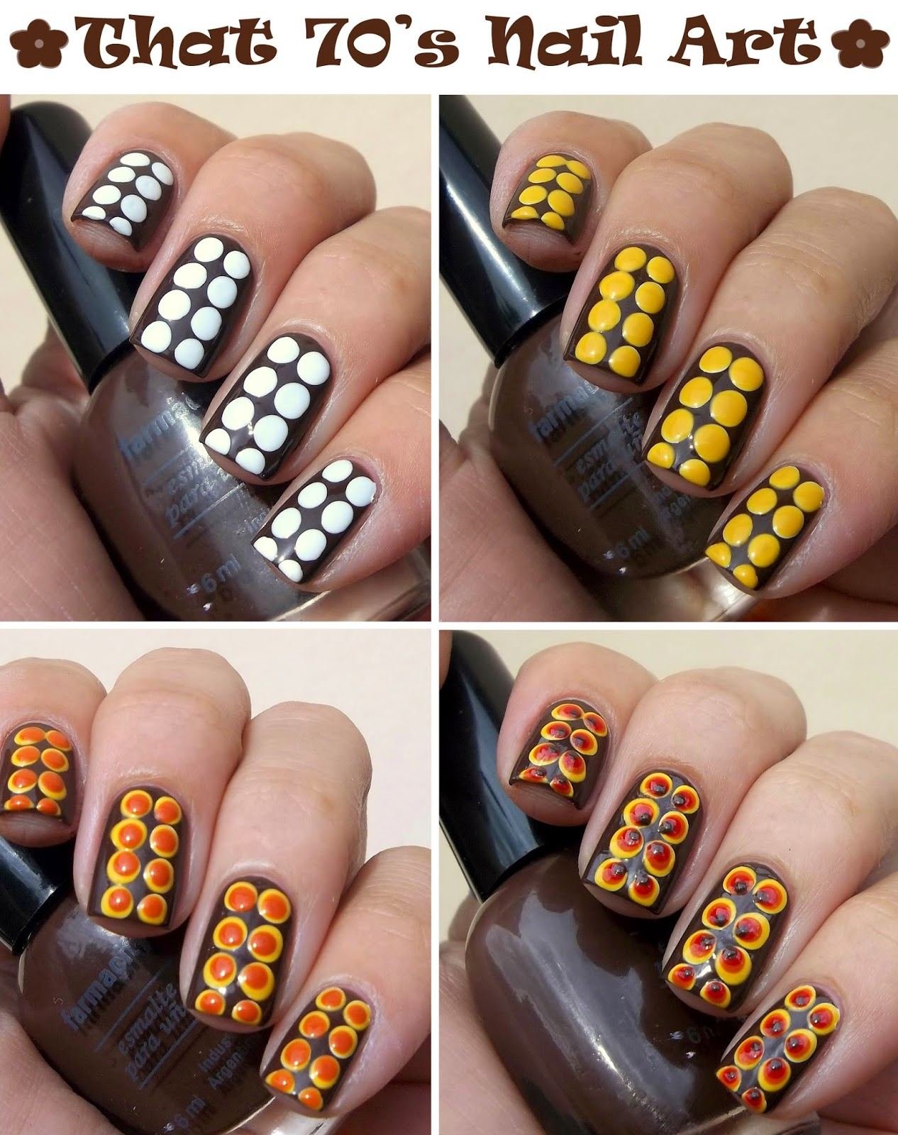 Tutorial Polka dots nail art