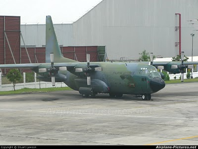 c 130 military transport aircraft  PAF C-130H Hercules. The