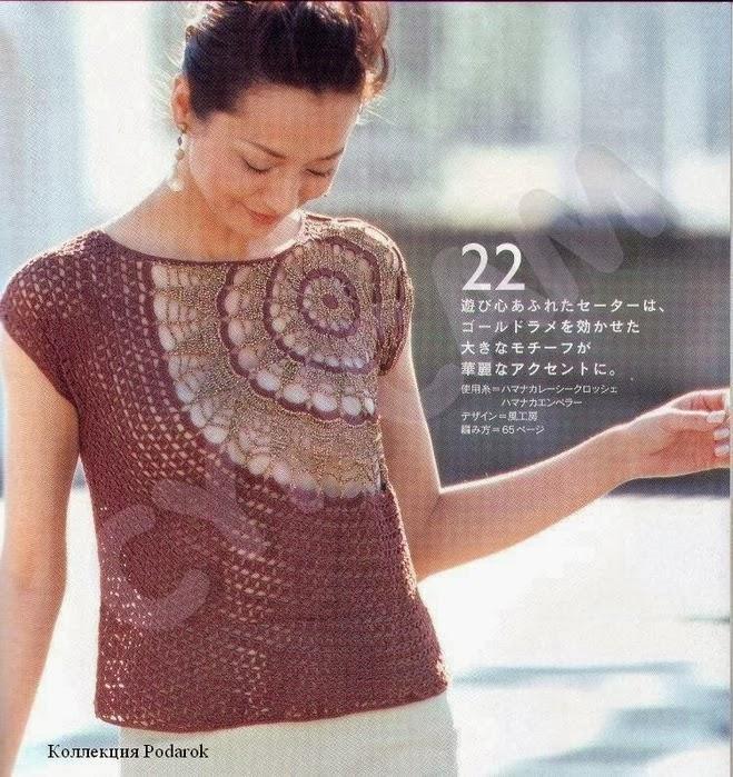 TRICO y CROCHET-madona-mía: Blusas a crochet (ganchillo) con patrones,