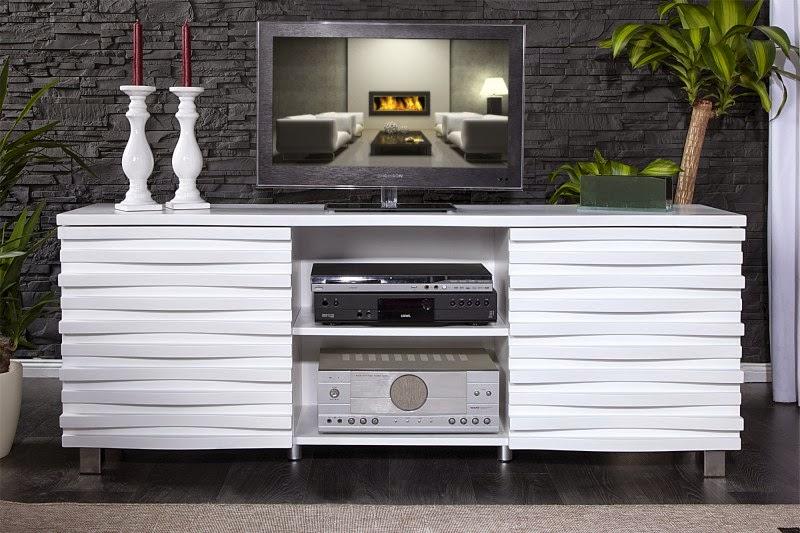 dizajnovy nabytok v bielej farbe, stolik pod televizor, Luxusny nabytok reaction