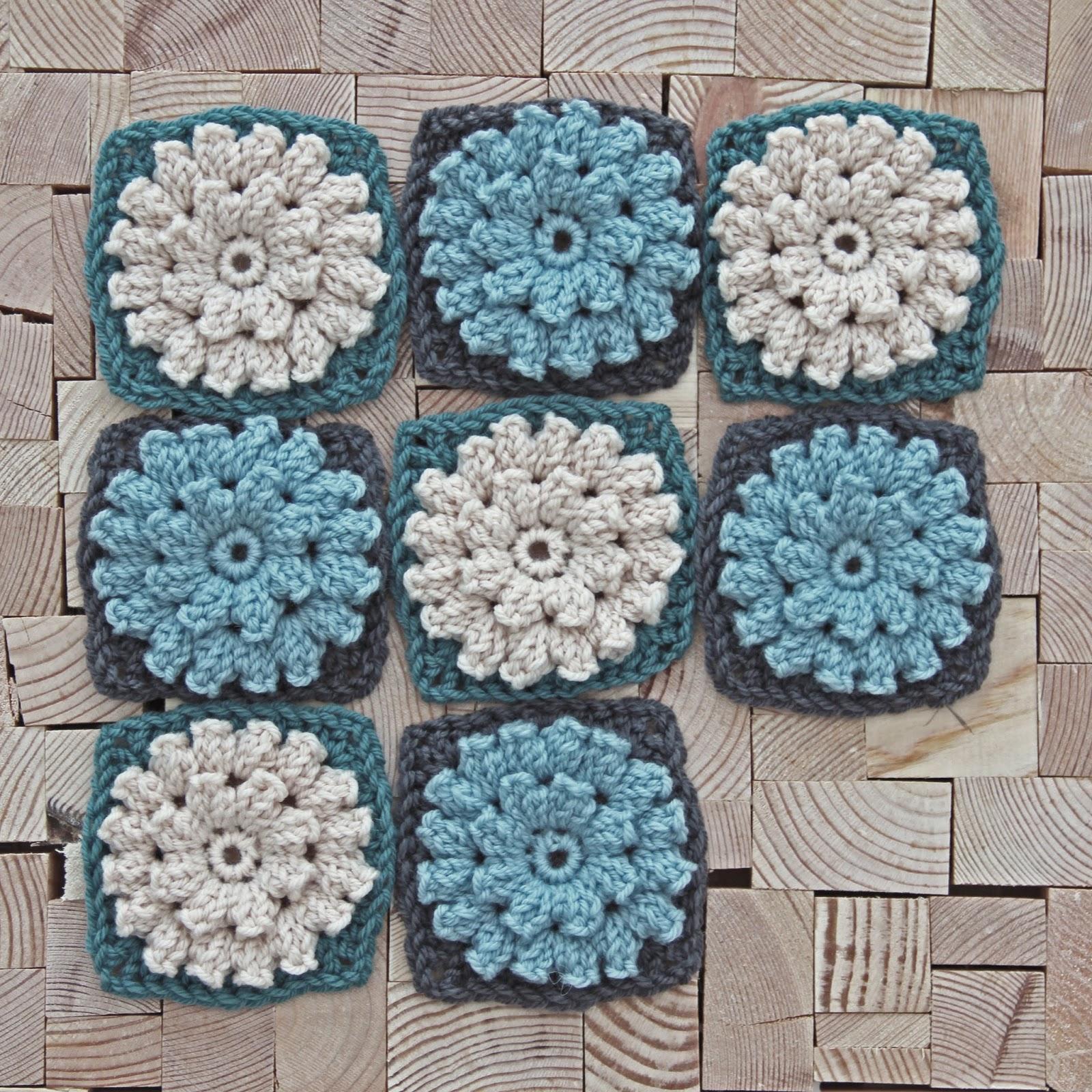 Crochet Popcorn Flower Free Pattern : creJJtion: Crochet Popcorn Flower Update