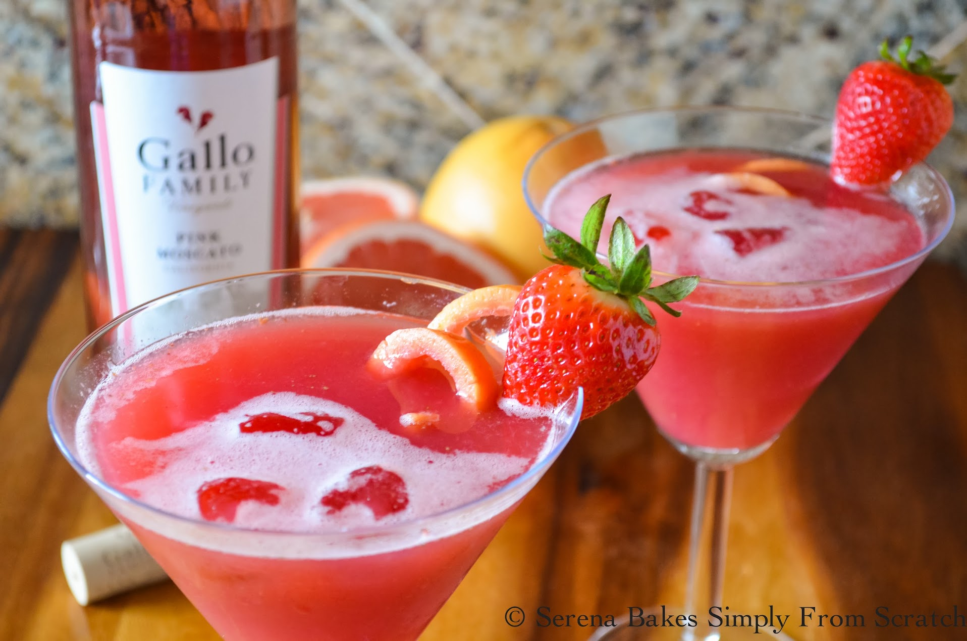 Sparkling Grapefruit Moscato Punch is easy to make and super refreshing!