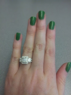 essie pretty edgy green polish