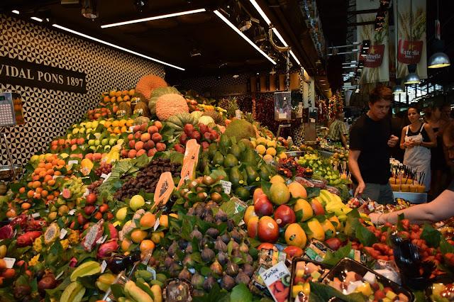 Fruit marché espagne barcelone