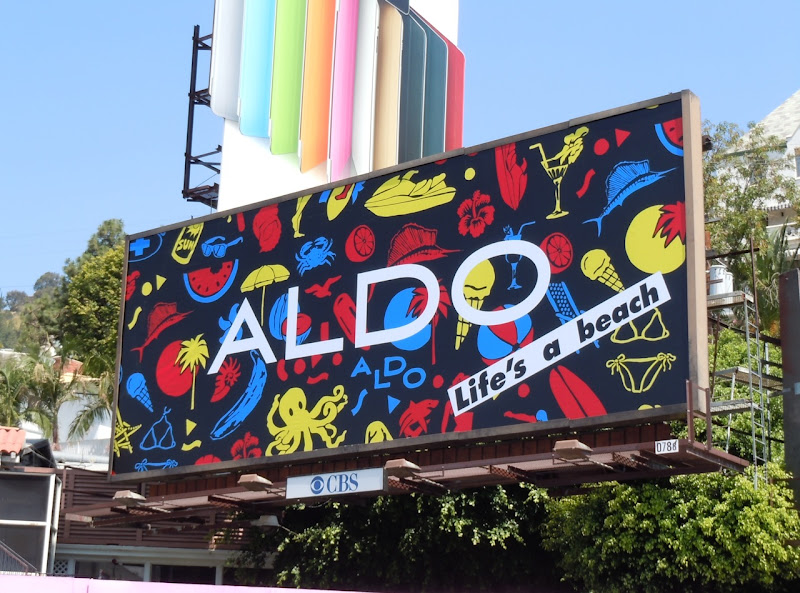 Aldo Shoes Life's a Beach billboard