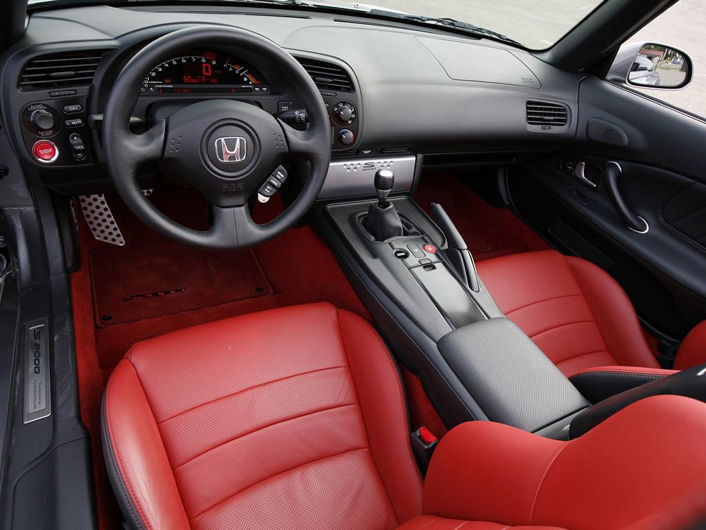 Honda S2000, sports, japoński sportowy samochód, roadster, 日本車, チューニングカー, スポーツカー, wnętrze, interior