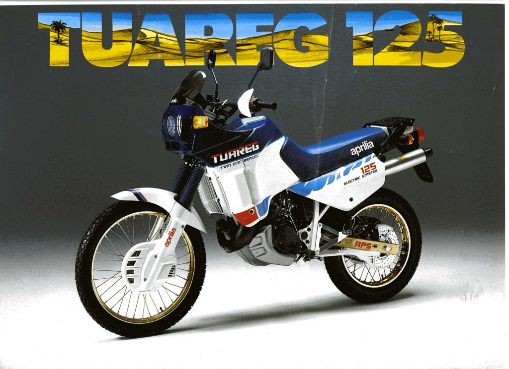 Racing Caf U00e8  Vintage Brochures  Aprilia Tuareg 125 1987  Italy
