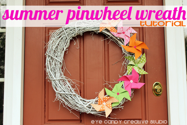 summer pinwheel wreath tutorial, summer wreath making, how to make