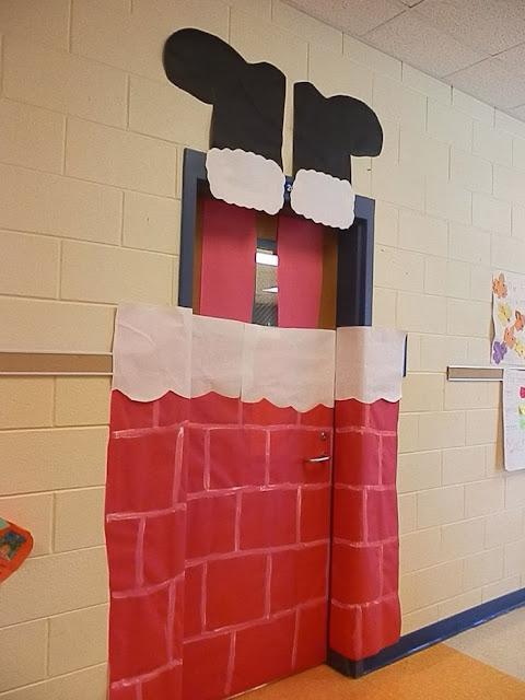 Στολισμός σχολικής πόρτας