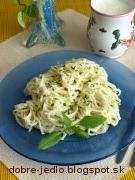 Špagety s bryndzou - recept