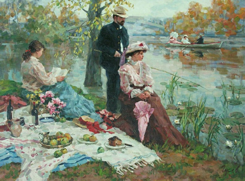 Vladimir Gusev 1957 | Russian Plein-air Figurative painterVladimir Gusev 1957 | Russian Plein-air Figurative painter