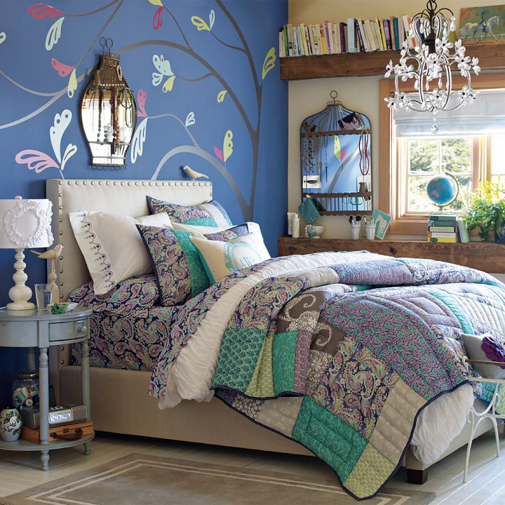 blue teen bedroom - photo #2