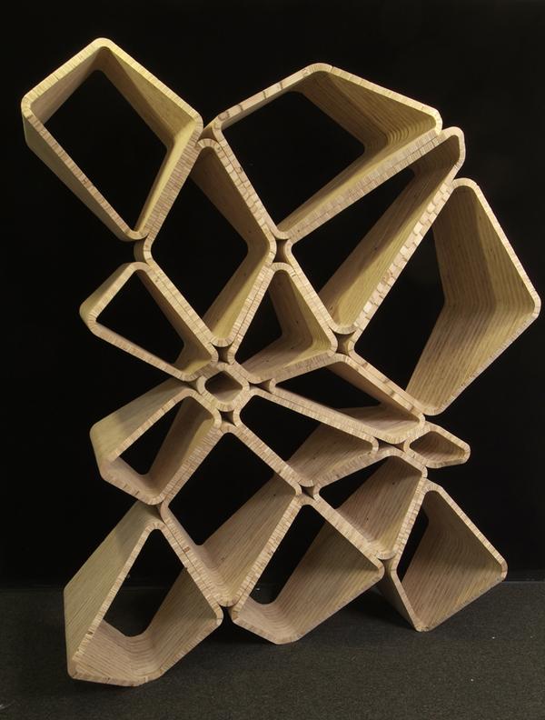 wood storage shelf