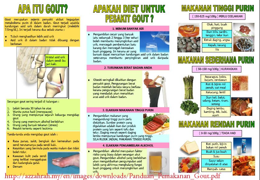 gout diet food list pdf