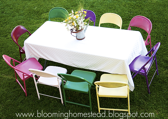 Painted Metal Chairs Blooming Homestead