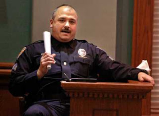 cop at a trial