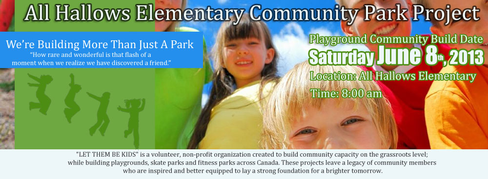 ALL HALLOWS ELEMENTARY COMMUNITY PARK PROJECT