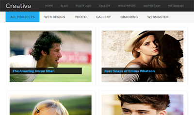 Template Gallery Premium Blogger Minimalis SEO Friendly