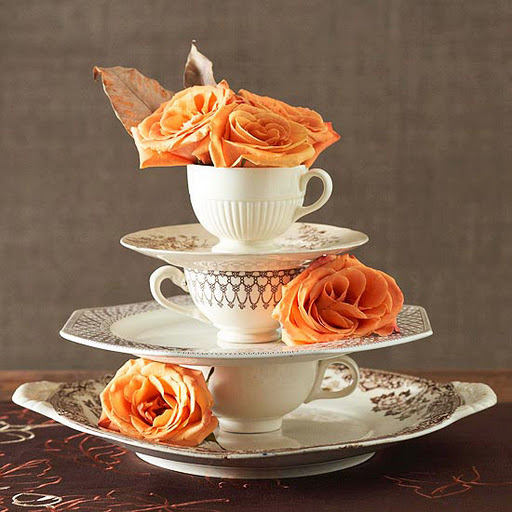 Centerpieces with Tea Cups and Plates