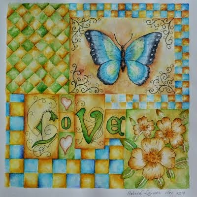 Aquarel 'Love'