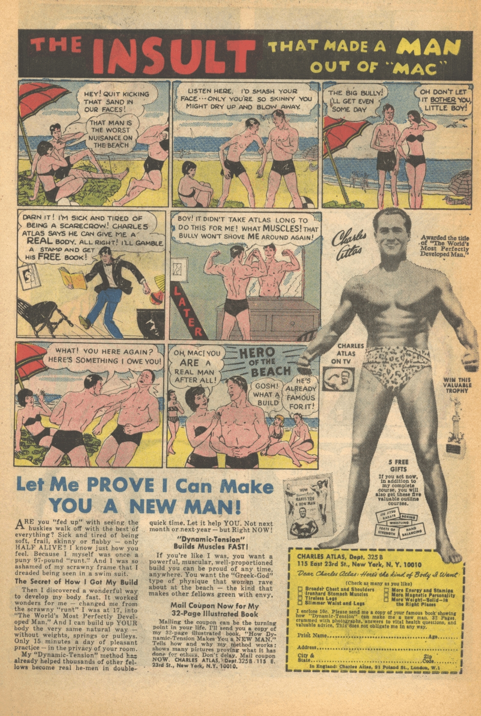The Yeti Speaks My Own Charles Atlas Ad Parody T Shirt Surfing Kaos 3second A0168 It Was Only A Matter Of Time Then As Lover Old Comic Book Ads And Creator In Some Sense That I Put Together Version Which You Can