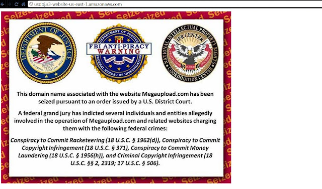 Megaupload Website Domain Seized