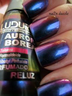 ludurana, reluz, nail, polish, multi, chrome, shift, blue, green, pink, purple, bronze