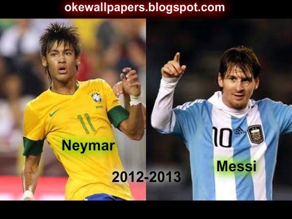 Neymar Da Silva Vs Lionel Messi 2012 2013 Wallpaper