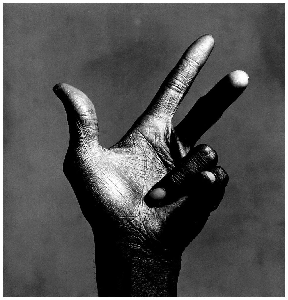 Irving Penn Miles Davis hand 3 black and white photograph, 1986