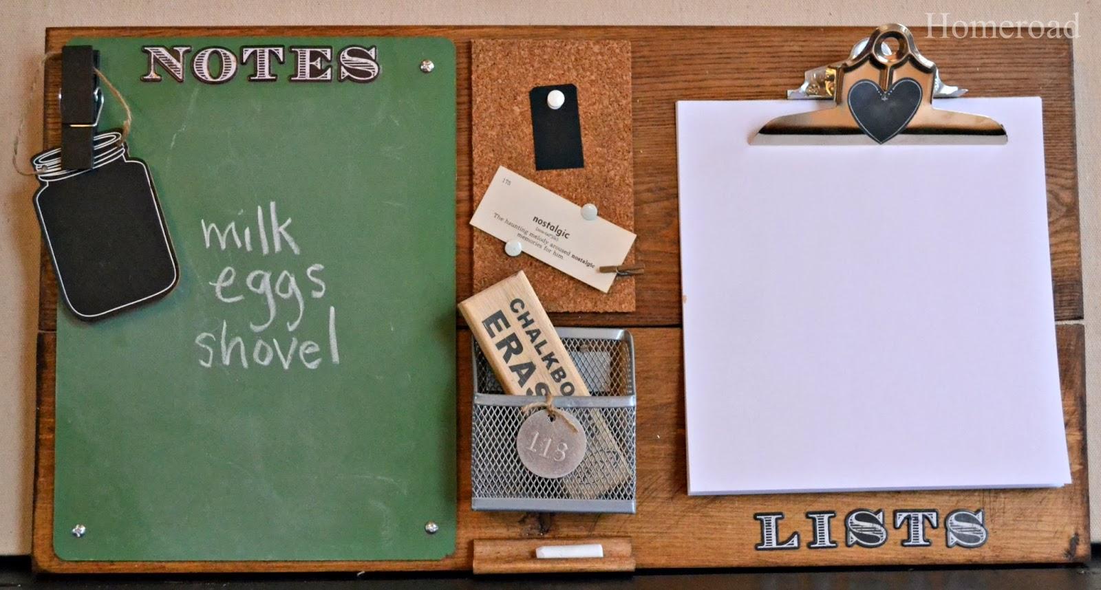 chalkboard message center www.homeroad.net