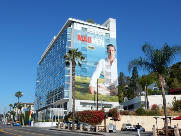 Giant Mad Men 2015 Emmy billboard Sunset Strip