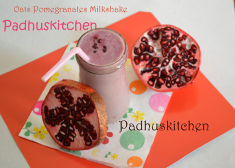 Pomegranate Oats Smoothie