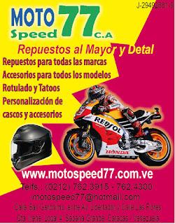 MOTO SPEED 77, C.A. en Paginas Amarillas tu guia Comercial