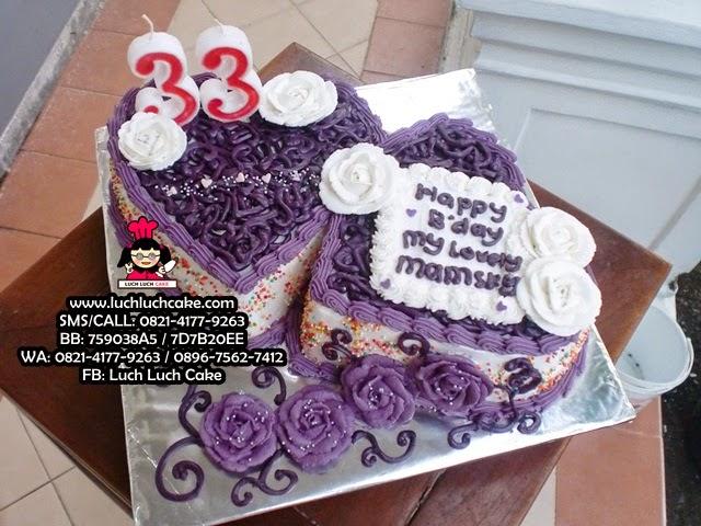 Kue Tart Love Ungu Romantis Daerah Surabaya - Sidoarjo