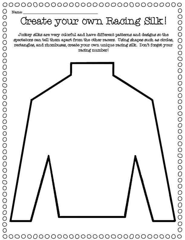 Growing little minds it 39 s derby time for Jockey silks template