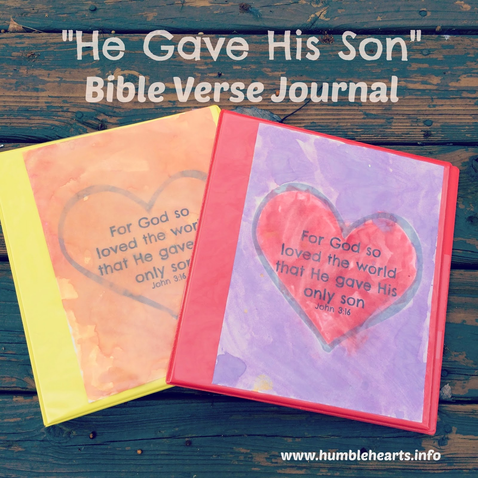 Bible Verse Journal: God Gave His Son Part 1 | Humble Hearts