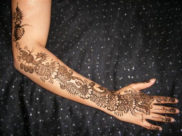 Full Hand Rajasthani Mehndi designs