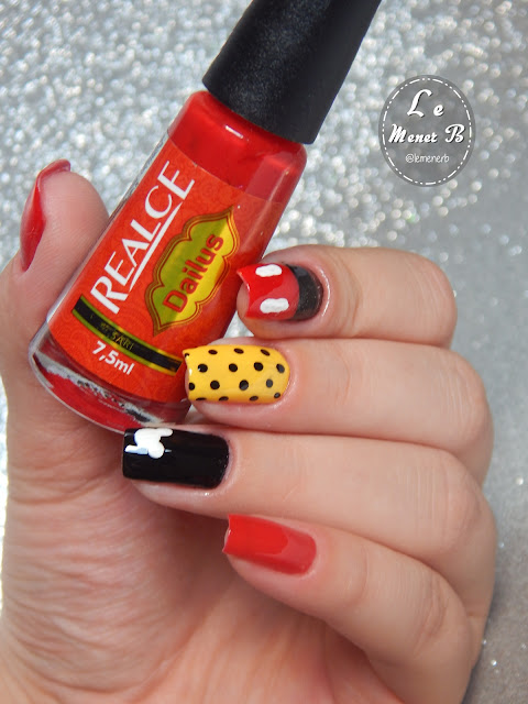 mickey nail art