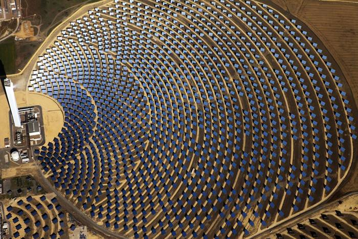 The PS10 Solar Power Plant is the world's first commercial concentrating solar power tower operating near Seville, in Andalusia, Spain.