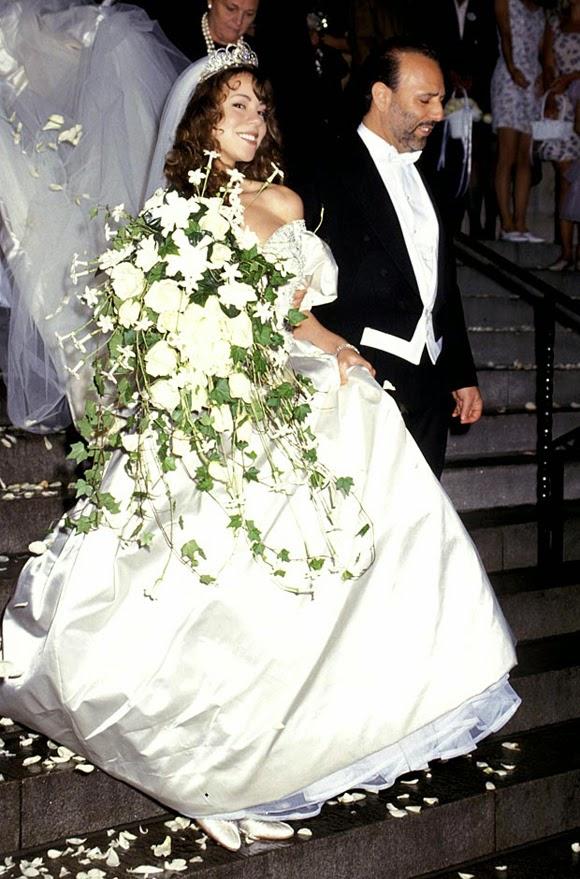 El vestido de novia de Mariah Carey