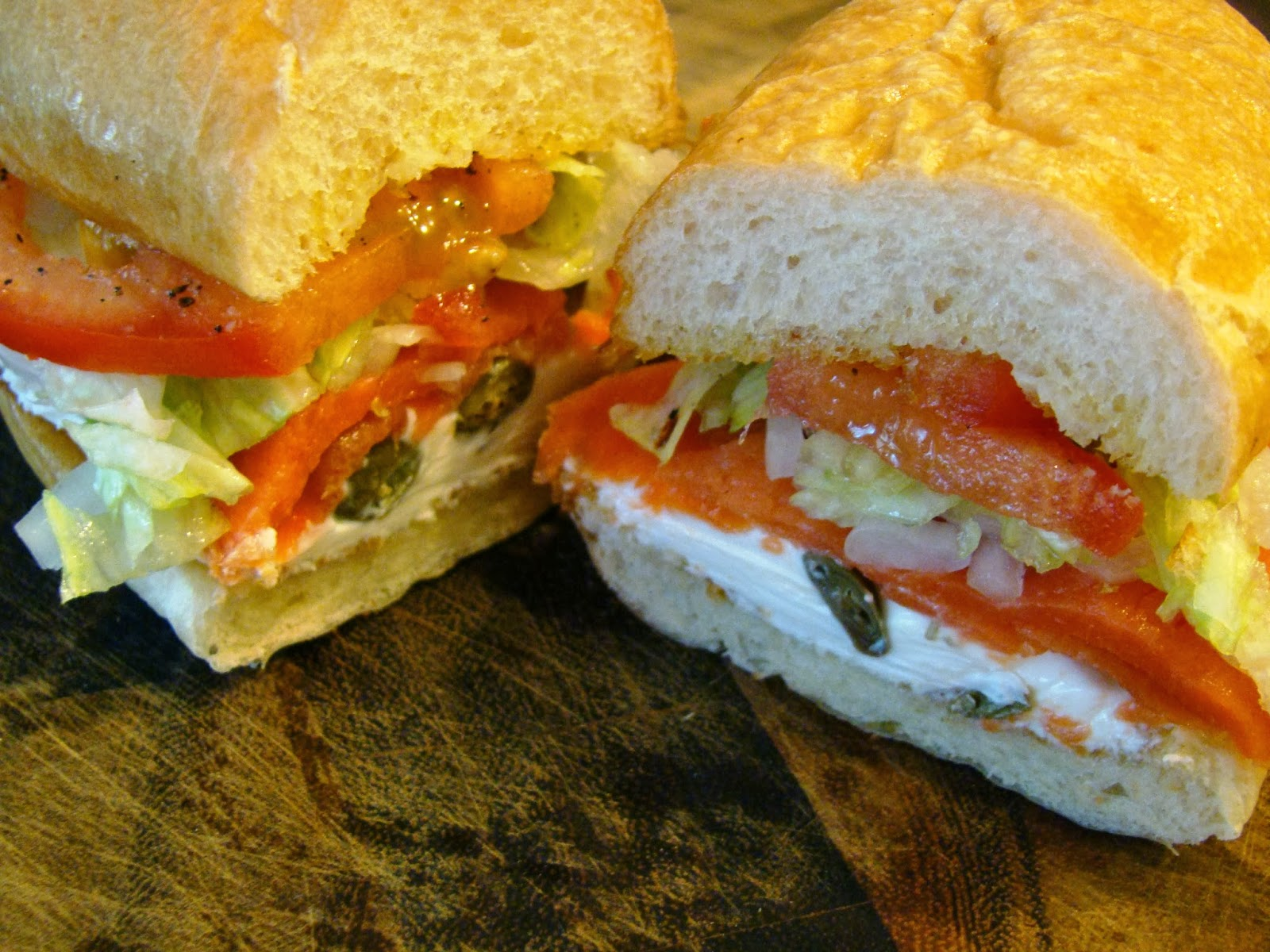 Soup Spice Everything Nice: Smoked Salmon and Cream Cheese Sandwich