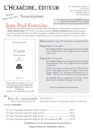 Cazin, l&#39;ponyme galvaud par Jean-Paul Fontaine (en souscription jusqu&#39;en avril 2012)
