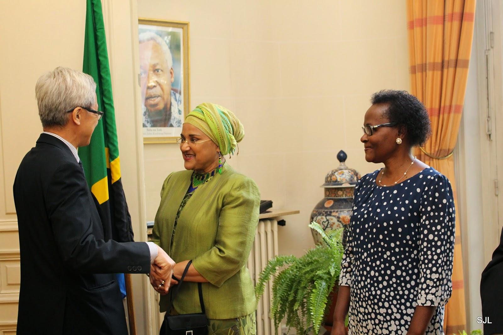 Barber Embassy : Tanzanian Ambassador to France H.E. Ms Begum Karim Taj welcomes H.E ...