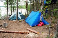 легкая самодельная палатка