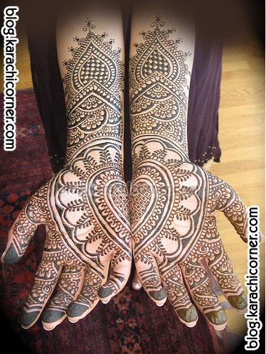 Yellow Wallpaper Mehndi Designs For Bridal