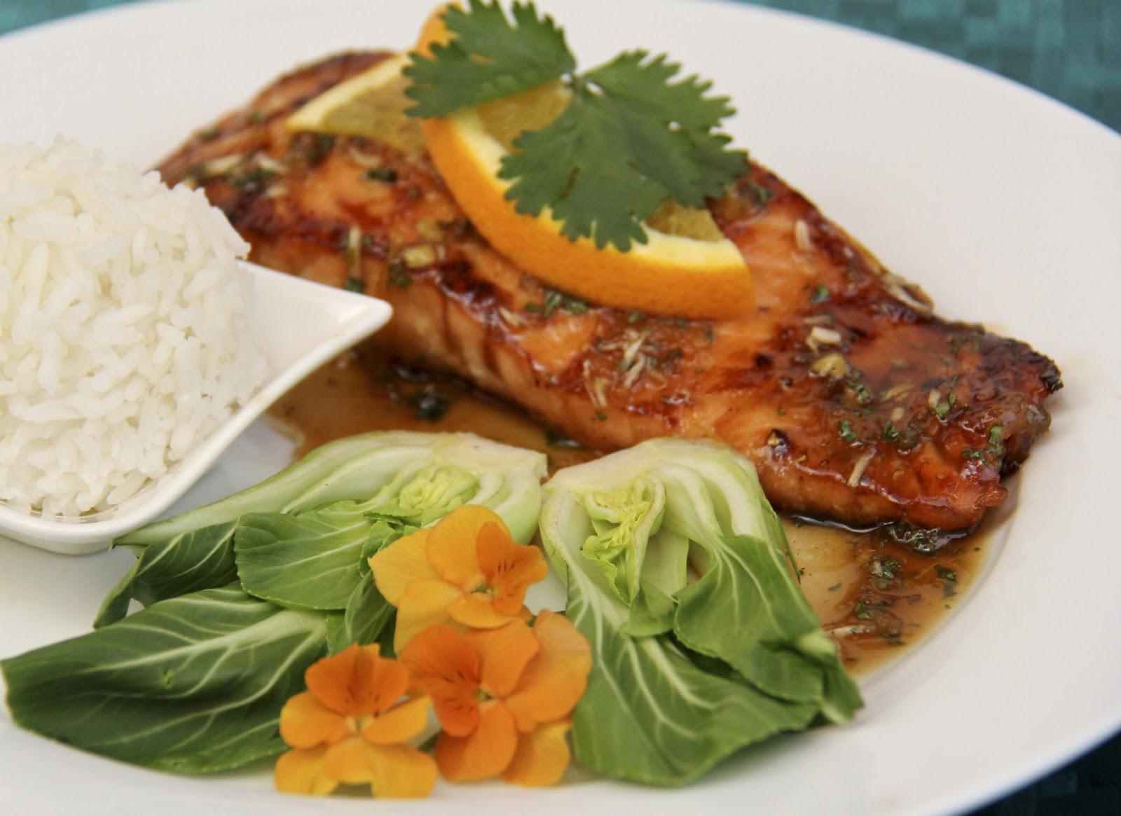 ... Farine: Sugar-Seared Salmon w/ Sweet & Spicy Orange-Coconut Sauce