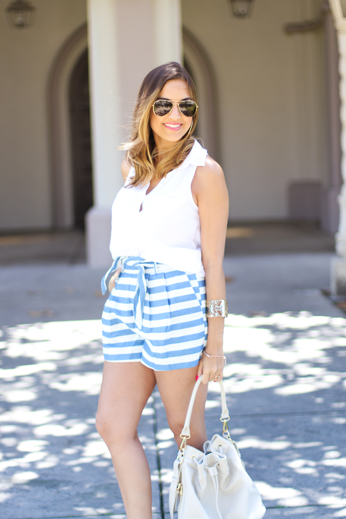 line and dot shorts