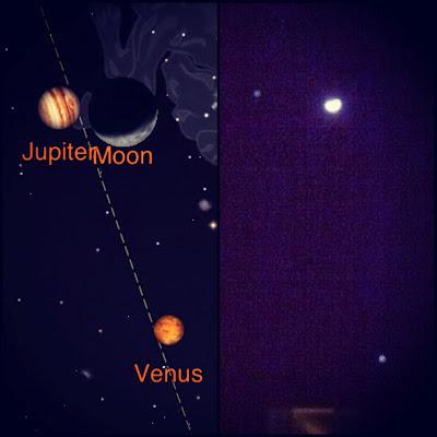 iphone astrophotography moon venus jupiter